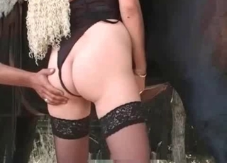 Big-ass chick likes her trained stallion