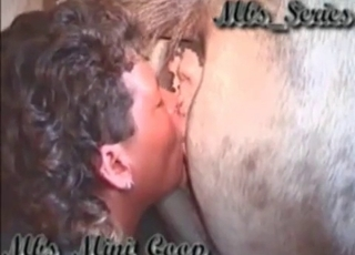 Kissing and rimming ass of a stallion